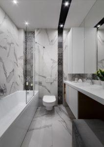 bagno_bianco e nero - interior design