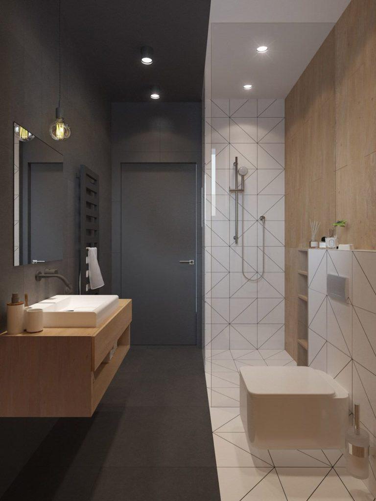 bagno_contrasto colori - interior design