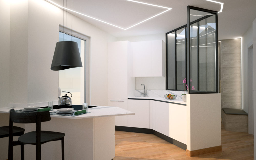 cucina angolo ristrutturazione appartamento centocelle