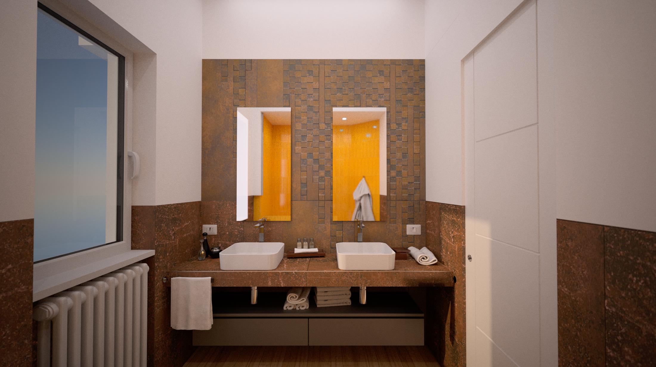 doppio lavabo design, ristrutturazione architetto