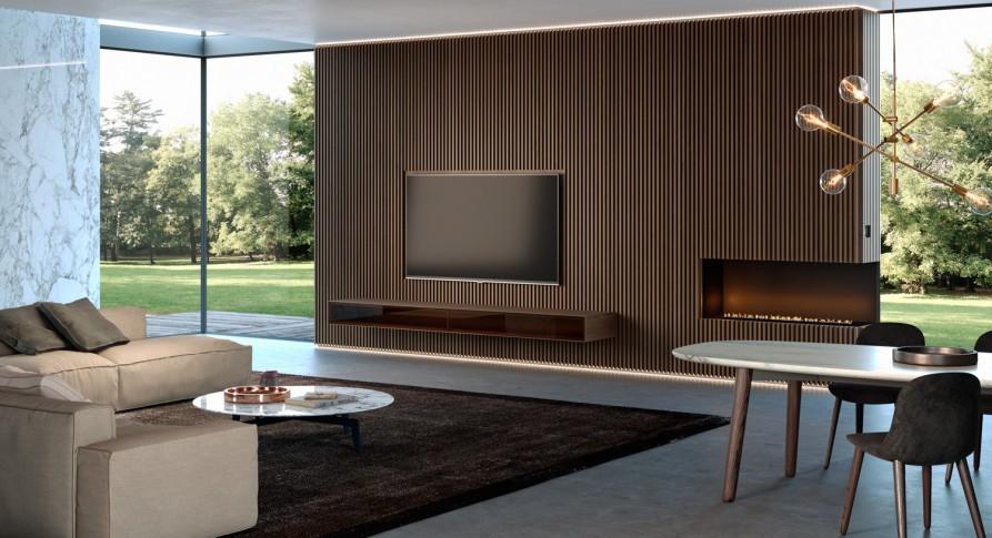 rivestimento legno interior design