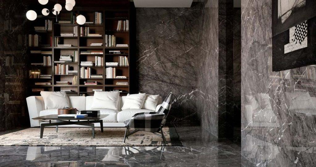 marmo a muro interior design