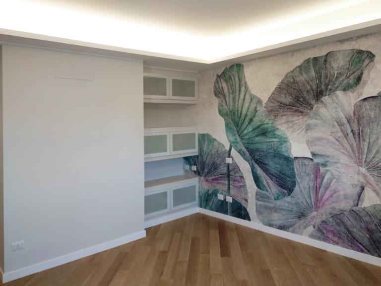 ristrutturazione appartamento parete attrezzata cartongesso